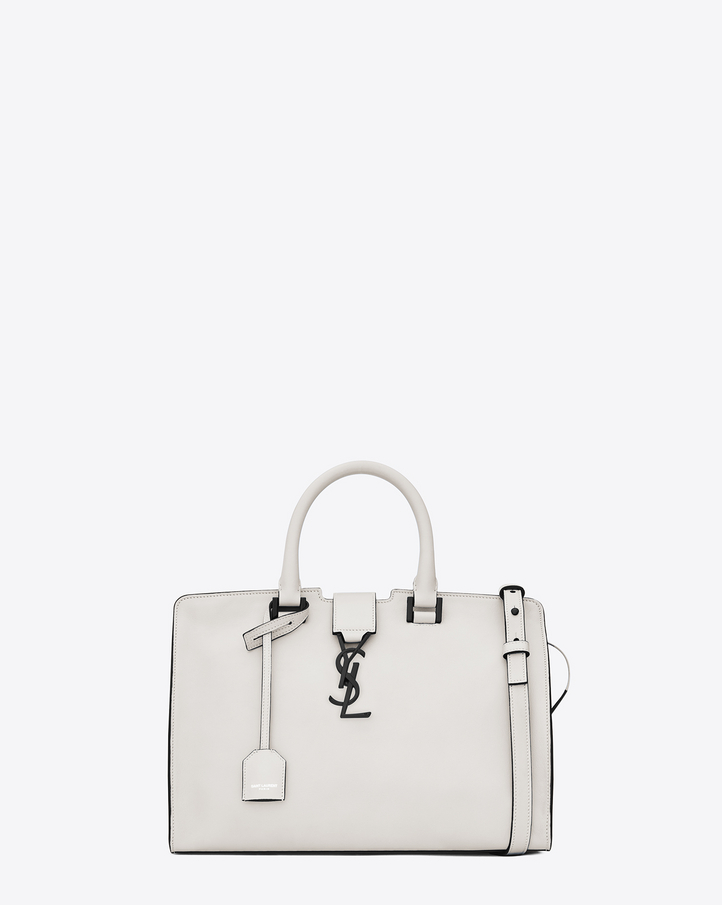 Saint Laurent Small MONOGRAM SAINT LAURENT CABAS Bag In Dove White ...