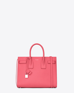 Classic Small SAC DE JOUR Bag in Light Rose Grained Leather