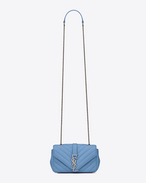 Classic Baby MONOGRAM SAINT LAURENT chain bag in Light Blue Matelassé Grained Leather