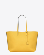 Large SHOPPING SAINT LAURENT tote bag in Yellow and Black Leather