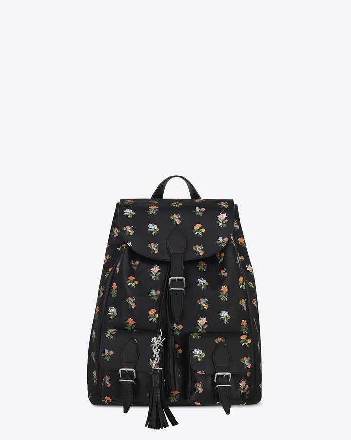 ysl cabas red - Saint Laurent FESTIVAL Backpack In Black And Multicolor Prairie ...