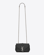 Classic Baby MONOGRAM SAINT LAURENT chain bag in Black Crocodile Embossed Leather