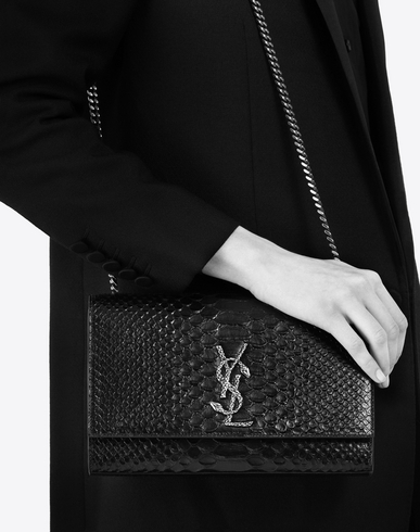 saint laurent kate monogram leather clutch bag