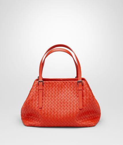 熔岩红编织小羊皮中号购物袋