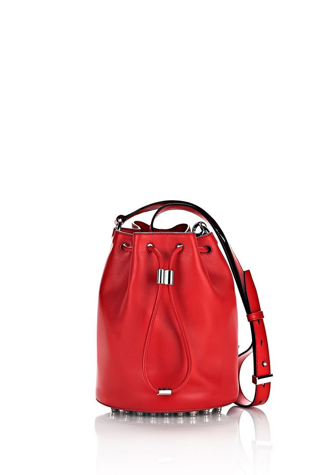 ALEXANDER WANG Shoulder bags Women ALPHA BUCKET IN CULT WITH RHODIUM