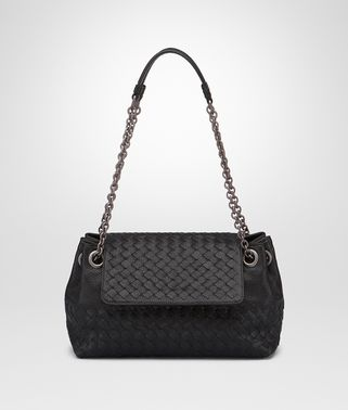 MINI SHOULDER BAG IN NERO INTRECCIATO MADRAS