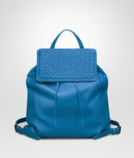 BACKPACK IN BLUETTE NAPPA, INTRECCIATO DETAIL