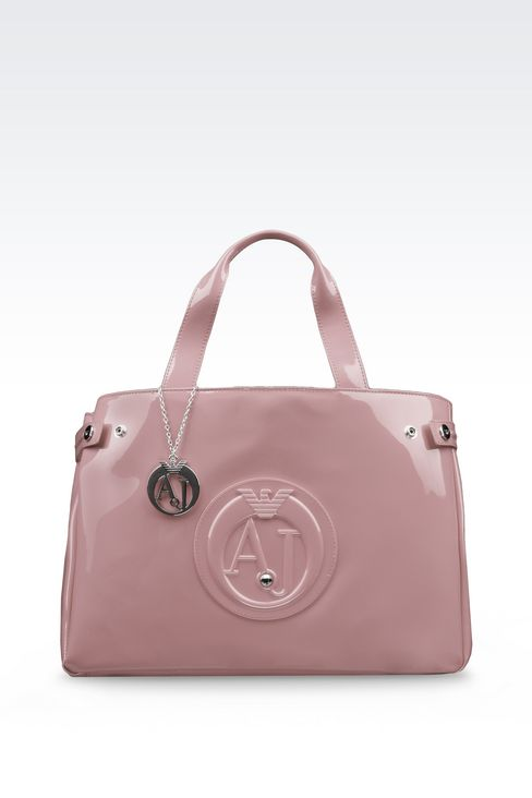 LOUISE SHOPPING BAG IN FAUX PATENT: Shoppers Women by Armani - 1