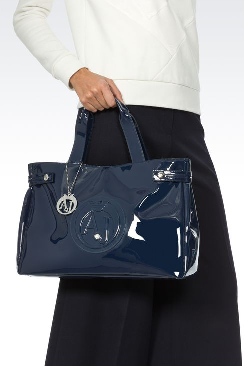 LOUISE SHOPPING BAG IN FAUX PATENT: Shoppers Women by Armani - 2