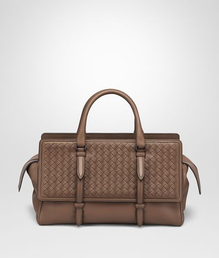 MEDIUM MONACO BAG IN NEW CIGAR INTRECCIATO NAPPA