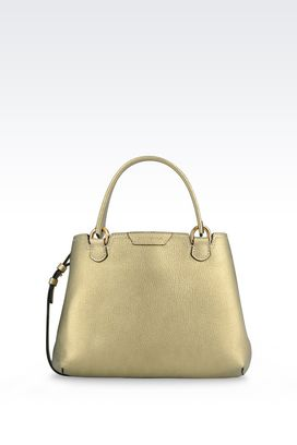 Armani Shoppers Women small shopping bag in deer grain calfskin