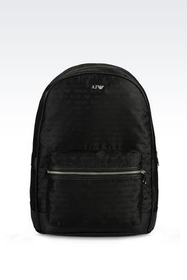 Armani Backpacks Men backpack in logo patterned jacquard