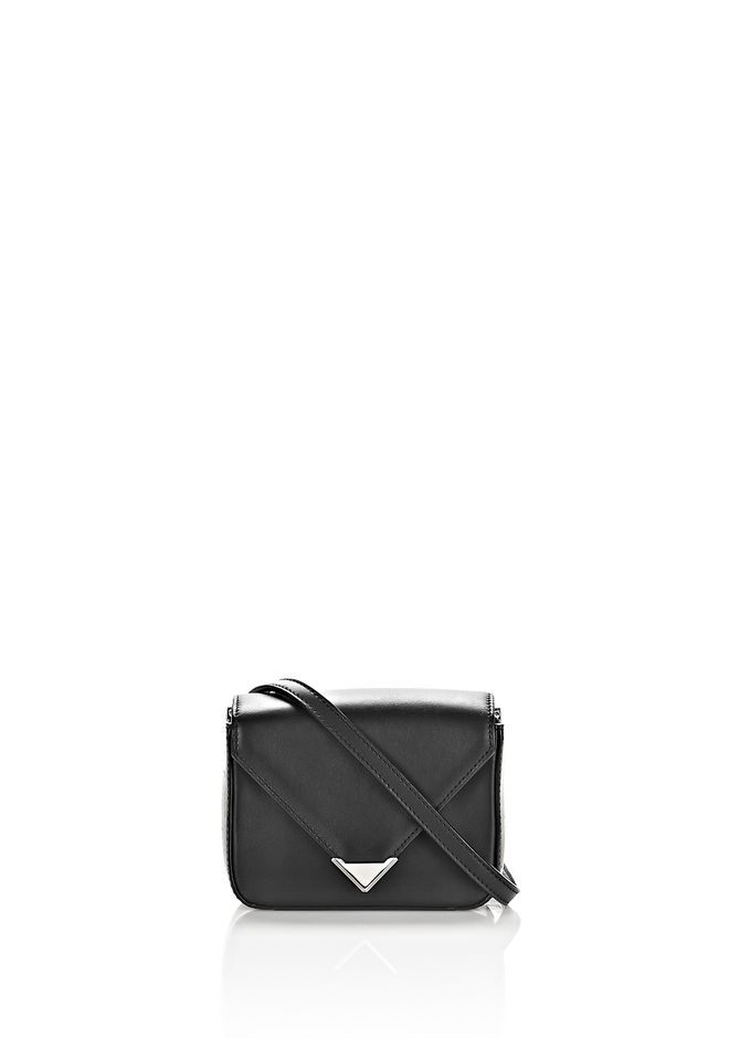 ALEXANDER WANG mini-bags MINI PRISMA ENVELOPE SLING IN BLACK WITH RHODIUM