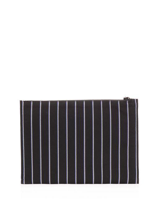 lanvin clutch in striped jacquard fabric men
