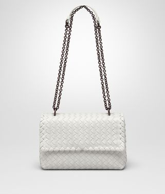BABY OLIMPIA BAG IN BIANCO INTRECCIATO NAPPA Online Boutique Exclusive