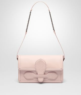 SHOULDER BAG IN PETALE NAPPA WITH MICROINTRECCIATO DETAILS
