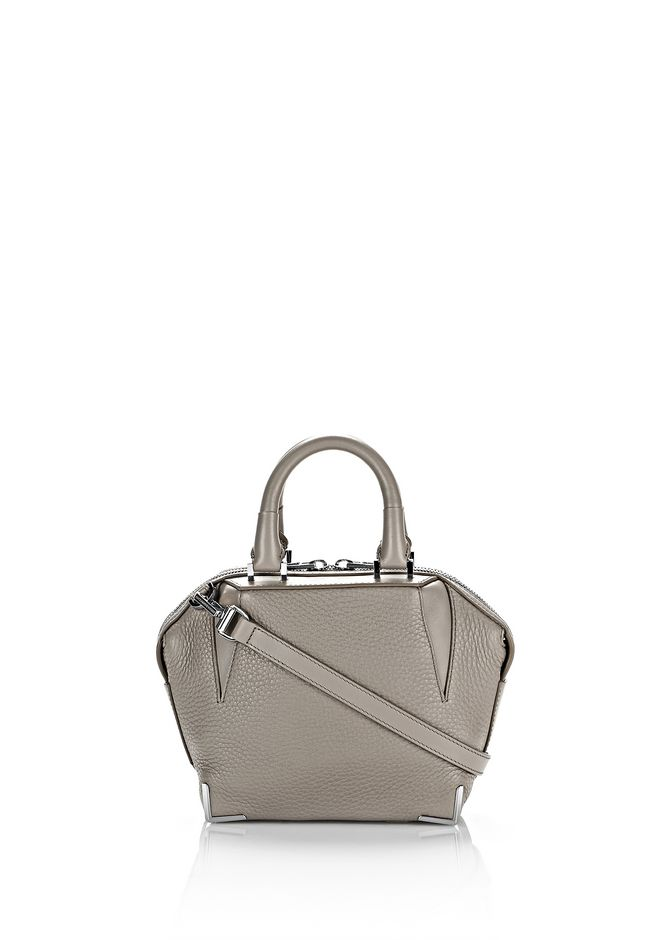 ALEXANDER WANG Shoulder bags Women MINI EMILE IN PEBBLED OYSTER WITH RHODIUM