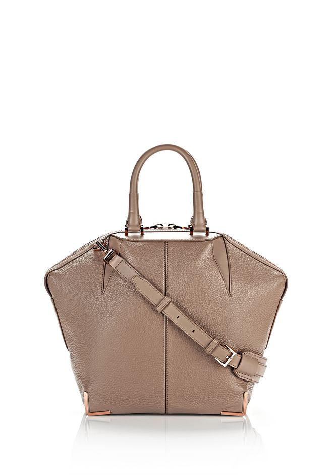 ALEXANDER WANG TOTES Women SMALL EMILE IN PEBBLED LATTE WITH ROSE GOLD