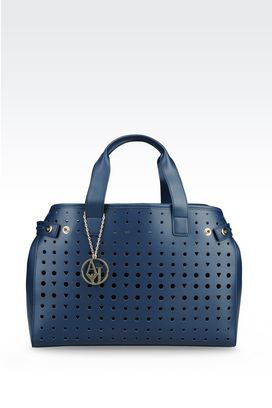 Armani Shopper Donna borsa shopping effetto traforato