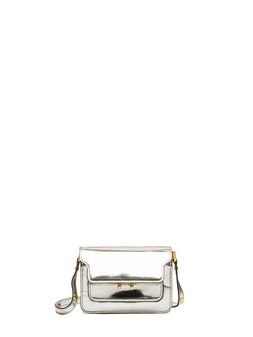 Marni MINI TRUNK bag in polished calfskin Woman