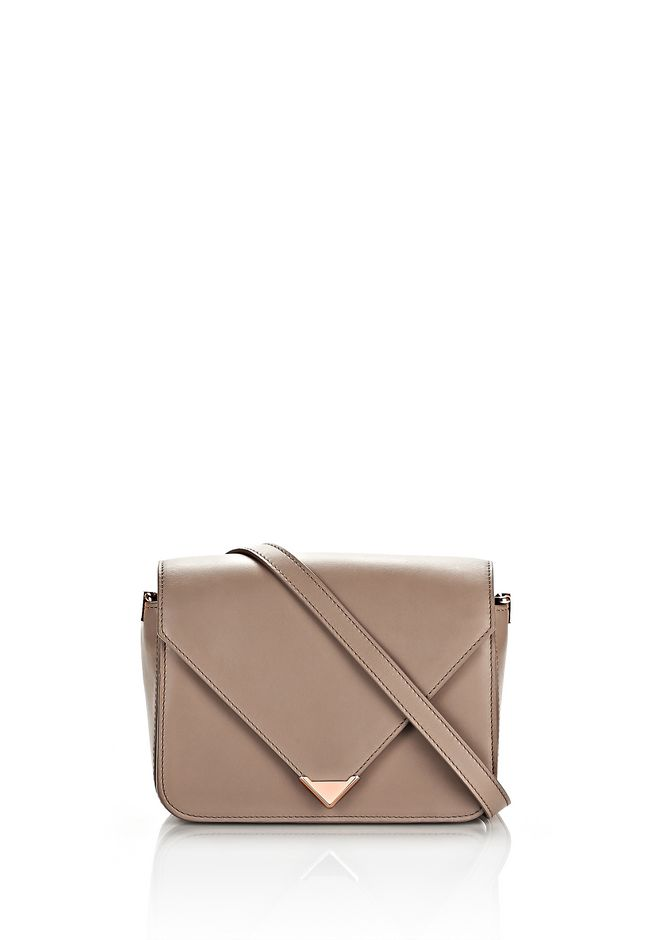 ALEXANDER WANG new-arrivals-bags-woman PRISMA ENVELOPE SLING IN LATTE WITH ROSE GOLD