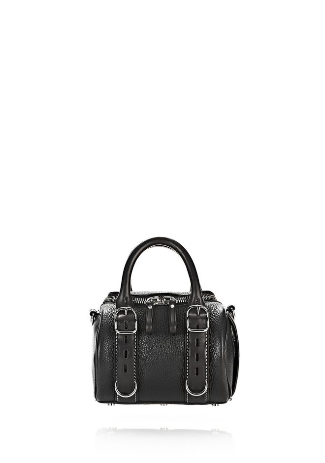 ALEXANDER WANG Shoulder bags Women MINI ROCKIE IN PEBBLED BLACK AND VACHETTA WITH RHODIUM