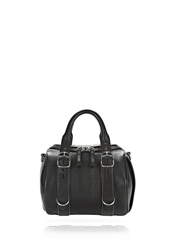 ALEXANDER WANG Shoulder bags Women ROCKIE IN PEBBLED BLACK AND VACHETTA WITH RHODIUM