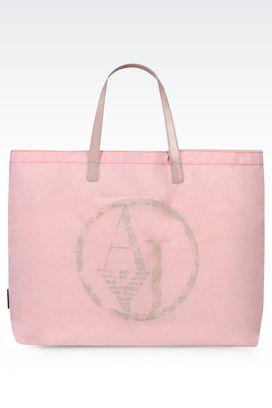 Armani Shopper Für sie faltbarer shopper aus nylon und lackleder