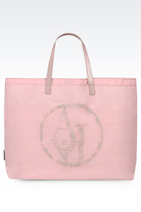 FOLDABLE SHOPPING BAG IN NYLON AND PATENT: Shoppers Women by Armani - 1