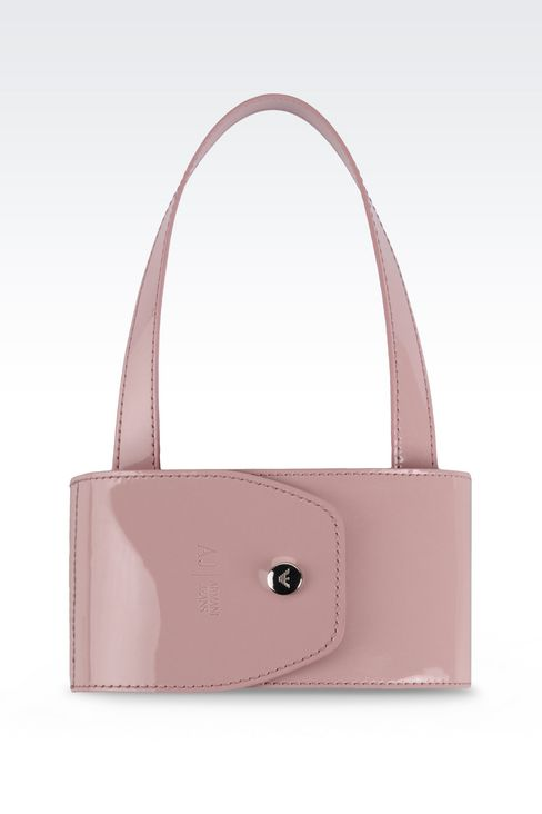 FOLDABLE SHOPPING BAG IN NYLON AND PATENT: Shoppers Women by Armani - 2