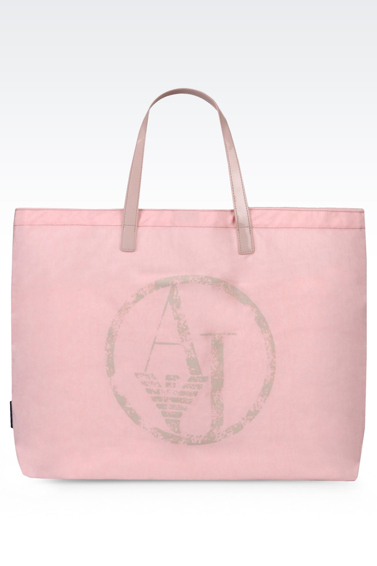 FOLDABLE SHOPPING BAG IN NYLON AND PATENT: Shoppers Women by Armani - 0