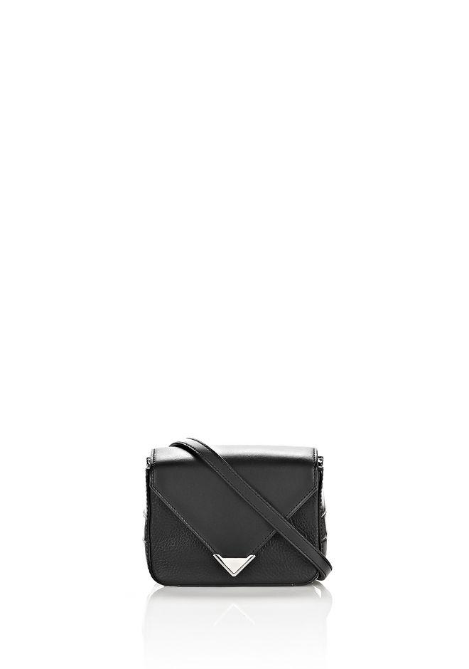 ALEXANDER WANG Shoulder bags Women MINI PRISMA ENVELOPE SLING IN CROC EMBOSSED BLACK WITH RHODIUM