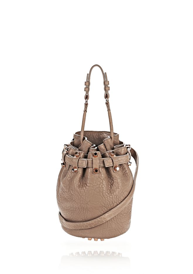 ALEXANDER WANG Shoulder bags Women SMALL DIEGO IN PEBBLED LATTE WITH ROSE GOLD