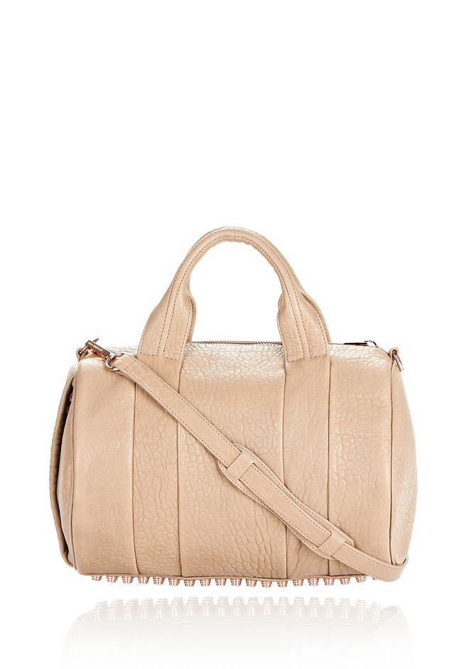 ALEXANDER WANG Shoulder bags Women ROCCO IN PEBBLED LATTE WITH ROSE GOLD