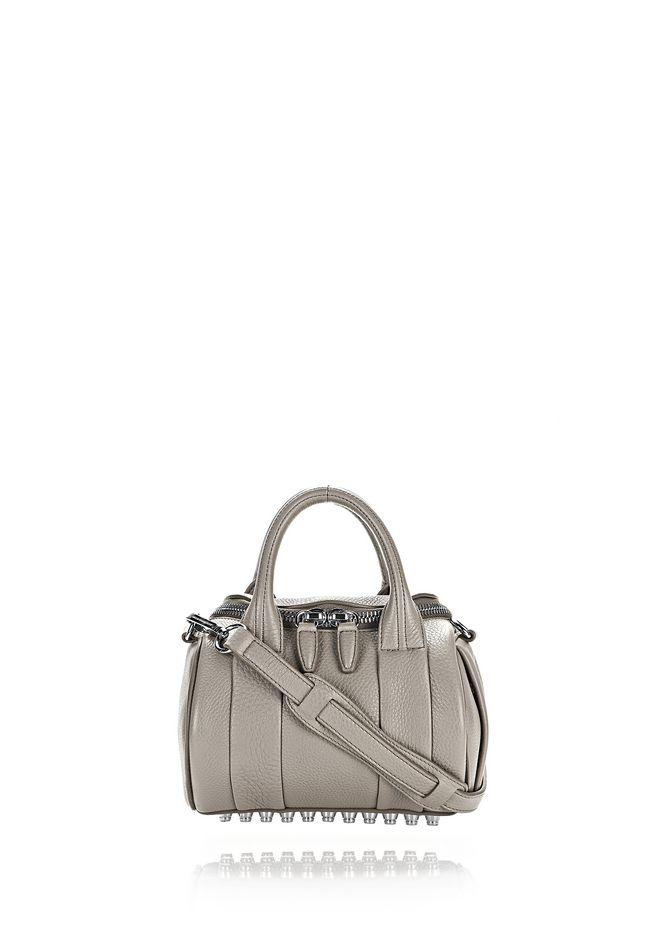 ALEXANDER WANG Shoulder bags Women MINI ROCKIE IN PEBBLED OYSTER WITH RHODIUM
