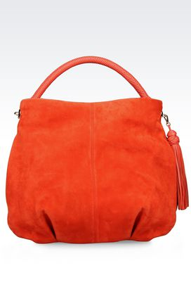 Armani Shoulder bags Women suede hobo bag