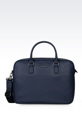 Armani Briefcases Men briefcase in faux saffiano