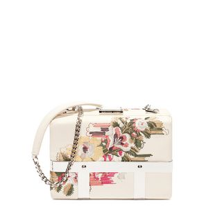 ALEXANDER MCQUEEN, Pouch, Nappa Floral Caged Bag