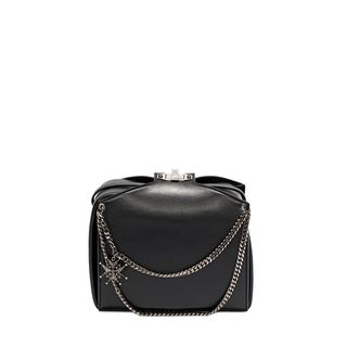 ALEXANDER MCQUEEN, Shoulder Bag, Calf Leather Chains and Charms Box Bag
