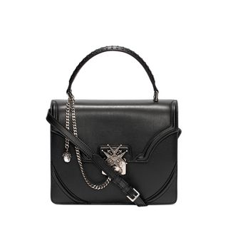 ALEXANDER MCQUEEN, Shoulder Bag, Calf Leather Chain Flower Satchel