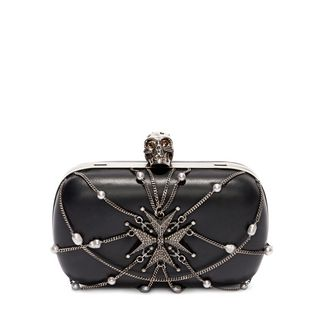 ALEXANDER MCQUEEN, Pouch, Nappa Chains and Charms Skull Clutch