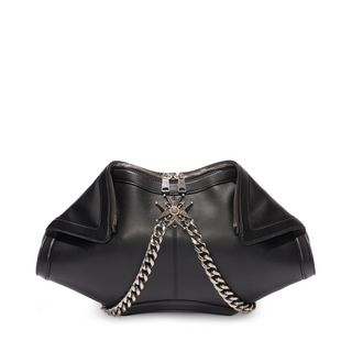 ALEXANDER MCQUEEN, Pouch, Calf Leather Chains and Charms De Manta Clutch