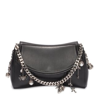 ALEXANDER MCQUEEN, Shoulder Bag, Calf Leather Medallion Satchel