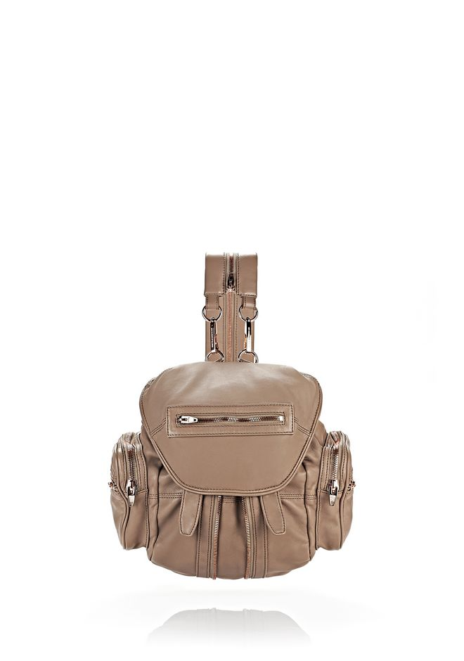 ALEXANDER WANG BACKPACKS MINI MARTI IN WASHED LATTE WITH ROSE GOLD