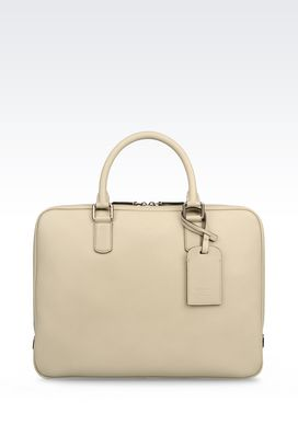 Armani Briefcases Men briefcase in saffiano calfskin