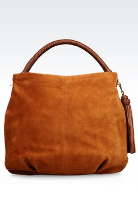 Armani Hobo bags Women suede hobo bag