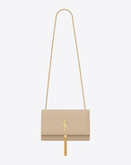 Classic Medium KATE  Monogram Saint Laurent Tassel Satchel in powder Leather
