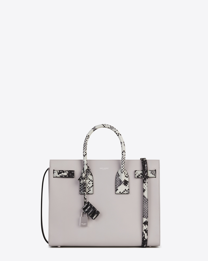 ysl handbags on sale - Saint Laurent Classic Small SAC DE JOUR Bag In Grey Leather And ...
