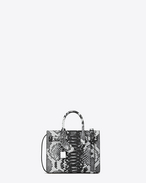 Classic Nano SAC DE JOUR Bag in White and Black Python Embossed Leather
