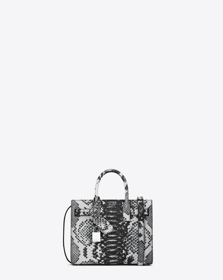 Saint Laurent Classic Nano SAC DE JOUR Bag In White And Black ...